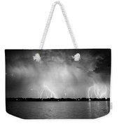Lake Lightning Bw Weekender Tote Bag