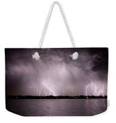 Lake Lightning Weekender Tote Bag