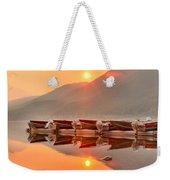 Lake Mcdonald Fiery Sunset Weekender Tote Bag