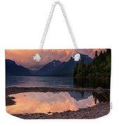 Lake Mcdonald Sunset Weekender Tote Bag