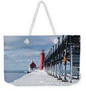 Lake Michigan Ice Weekender Tote Bag