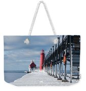 Lake Michigan Ice Weekender Tote Bag