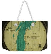 Lake Michigan Map Weekender Tote Bag