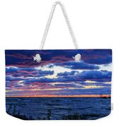 Lake Michigan Windy Sunrise Weekender Tote Bag