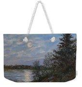 Lake Moonrise Weekender Tote Bag