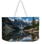 Lake Moraine Reflection Weekender Tote Bag