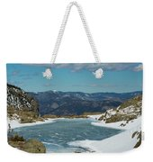 Lake Of Glass Winter Weekender Tote Bag
