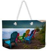 Lake Quinault Chairs Weekender Tote Bag