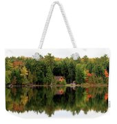 Lake Reflections Panorama 4370 4371 Weekender Tote Bag