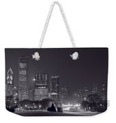 Lake Shore Drive Chicago B And W Weekender Tote Bag