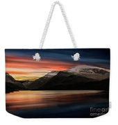 Lake Sunset Snowdonia Weekender Tote Bag