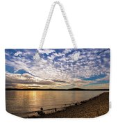 Lake Sunset Weekender Tote Bag