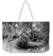 Lake Swing - Black And White Weekender Tote Bag