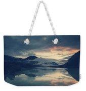 Lake Sylvenstein With Red Sky Weekender Tote Bag