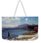 Lake Tahoe Weekender Tote Bag by Albert Bierstadt