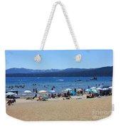 Lake Tahoe Beach Scene Weekender Tote Bag