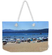 Lake Tahoe Beach Scene Weekender Tote Bag