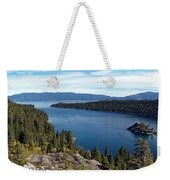 Lake Tahoe Emerald Bay Panorama Weekender Tote Bag