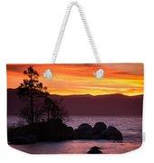 Lake Tahoe Sunset Colors Weekender Tote Bag