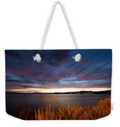 Lake Taupo Sunset Weekender Tote Bag