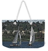 Lake Union Regatta Weekender Tote Bag