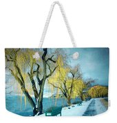 Lakeshore Walkway In Winter Weekender Tote Bag