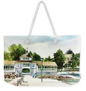 Lakeside Dock And Pavilion Weekender Tote Bag