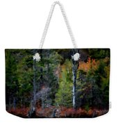 Lakeside In The Autumn Weekender Tote Bag