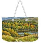 Lakeside Trail In Autumn Weekender Tote Bag