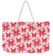 Lalabutterfly Red And White Weekender Tote Bag