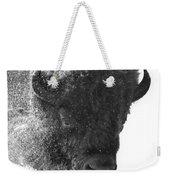 Lamar Valley Bison Black And White Weekender Tote Bag