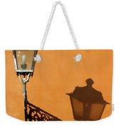 Lamp, Shadow And Burnt Umber Wall, Orvieto, Italy Weekender Tote Bag
