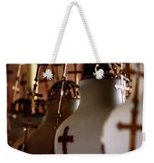 Lamps Inside The Church Of The Holy Sepulchre, Jerusalem Weekender Tote Bag
