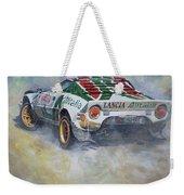 Lancia Stratos 1976 Rallye Sanremo Weekender Tote Bag