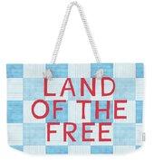 Land Of The Free Weekender Tote Bag by Linda Woods