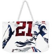 Landon Collins New York Giants Pixel Art 1 Weekender Tote Bag