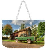 Landrover And The Barn Weekender Tote Bag