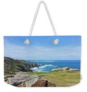 Land's End And Longships Lighthouse Cornwall Weekender Tote Bag by Terri Waters