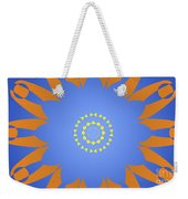 Landscape Abstract Blue, Orange And Yellow Star Weekender Tote Bag