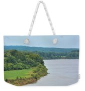Landscape Along The Tennessee River At Shiloh National Military Park, Tennessee Weekender Tote Bag