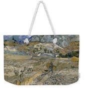 Landscape At Saint Remy Enclosed Field With Peasant Weekender Tote Bag