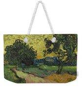 Landscape At Twilight Auvers Sur Oise June 1890 Vincent Van Gogh 1853  189 Weekender Tote Bag
