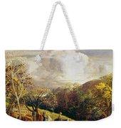 Landscape Figures And Cattle Weekender Tote Bag