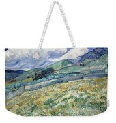 Landscape From Saint Remy At Wheat Fields  Van Gogh Series   By Vincent Van Gogh Weekender Tote Bag