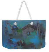 Landscape In Blue Weekender Tote Bag