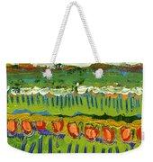 Landscape In Green And Orange Weekender Tote Bag