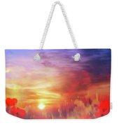 Landscape Of Dreaming Poppies Weekender Tote Bag by Valerie Anne Kelly