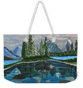 Landscape Of Tranquility And Storms  Weekender Tote Bag