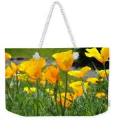 Landscape Poppy Flowers 5 Orange Poppies Hillside Meadow Art Weekender Tote Bag