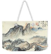 Landscape Village Weekender Tote Bag